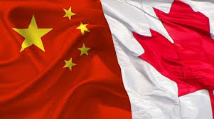 Canadian and Chinese flag image