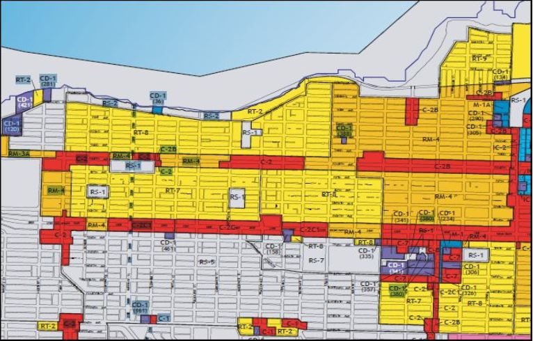 Kamloops Zoning Map