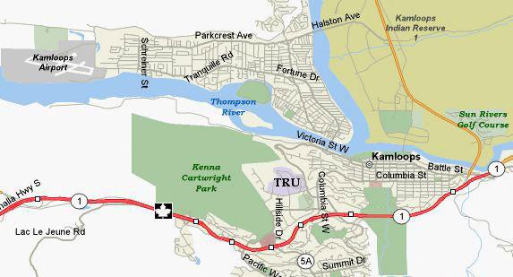 Kamloops Map Cities Around