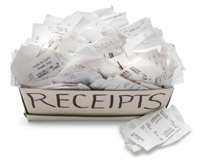 Keep your receipts
