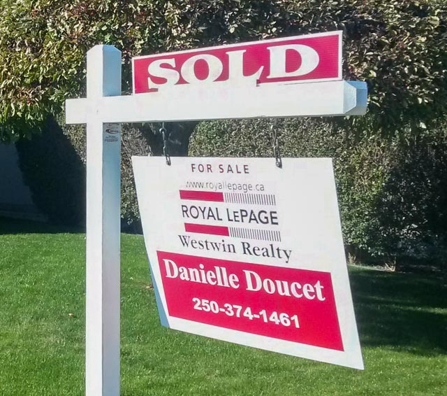 Danielle Doucet Sold House sign